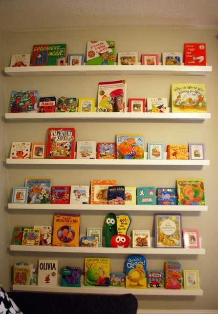 Ana White Nursery Room Book Shelves