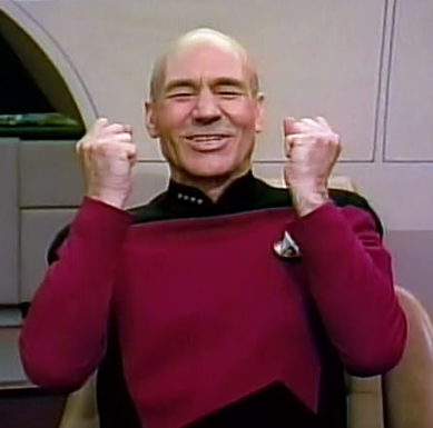 Ecstatic Captain Picard