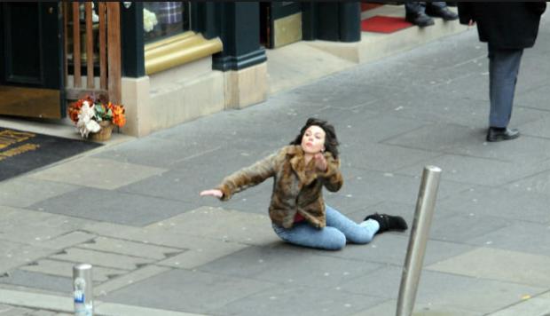Scarlett Johansson falling meme